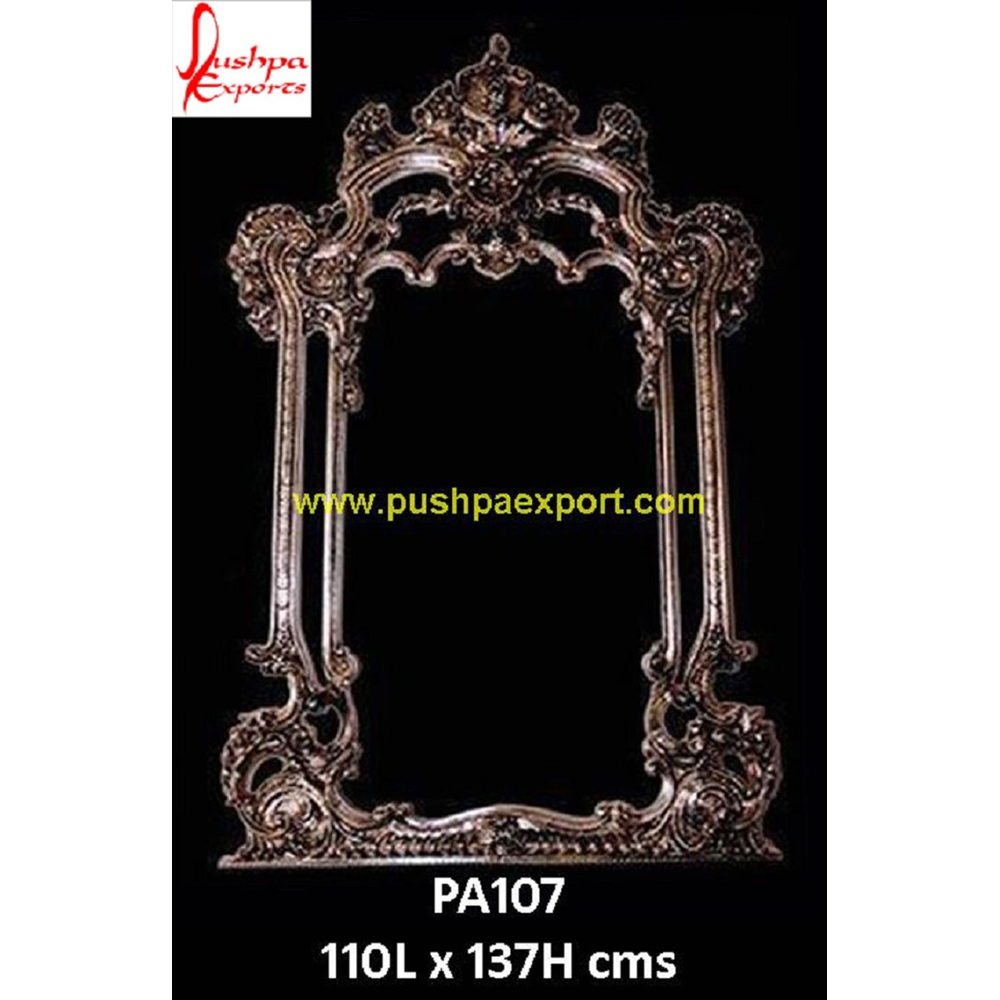 Carving Mirror Silver Frame