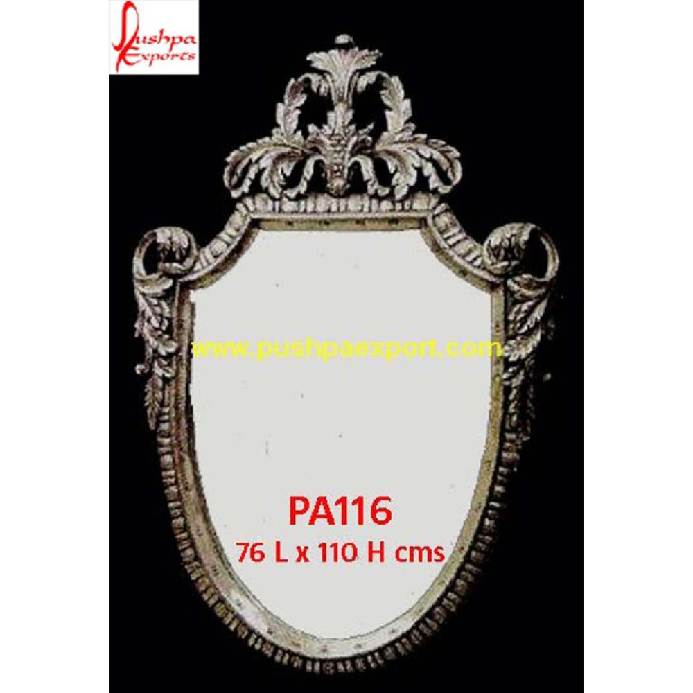 Carving Oval Shaped Silver Frame
