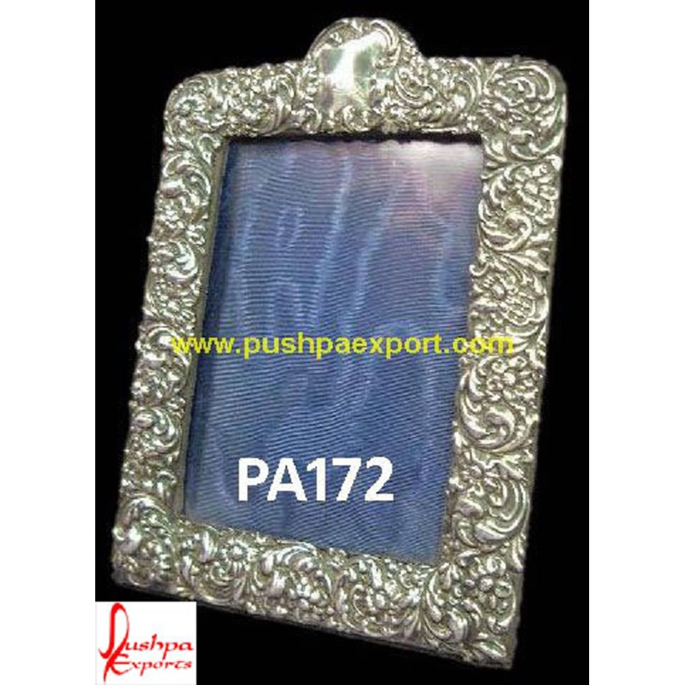 Fine Carving Silver Photo Frame