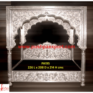 Silver Carved Beds