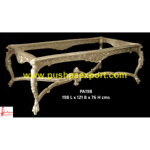 Silver Heavy Carving Dining Table