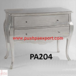 Silver Contemporary Chest of Drawers