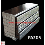 Silver Cubic Design Chest of Drawers