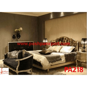 Silver Modern Style Bed