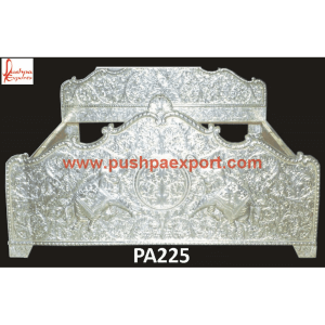 Silver Elephant Carving King Size Bed