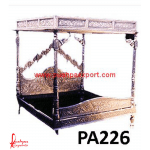 Silver Carved Royal Canopy Bed