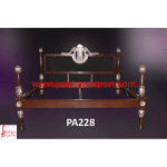 Silver with Wood Polish Light Carving Bed