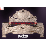Silver Maharaja Bed with Bedside Cabinets