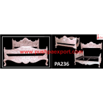 Silver Handcrafted Carving Double Bed
