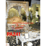 Silver Carved Victorian Four Posted Bed