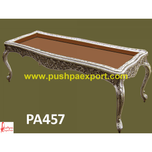 Silver 12 Seater Hand Carving Dining Table
