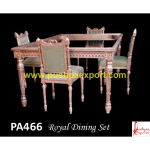 Silver Royal Dining Table and Chair