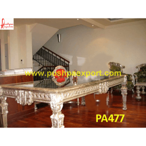 Royal Silver Dining Table and Chairs Set