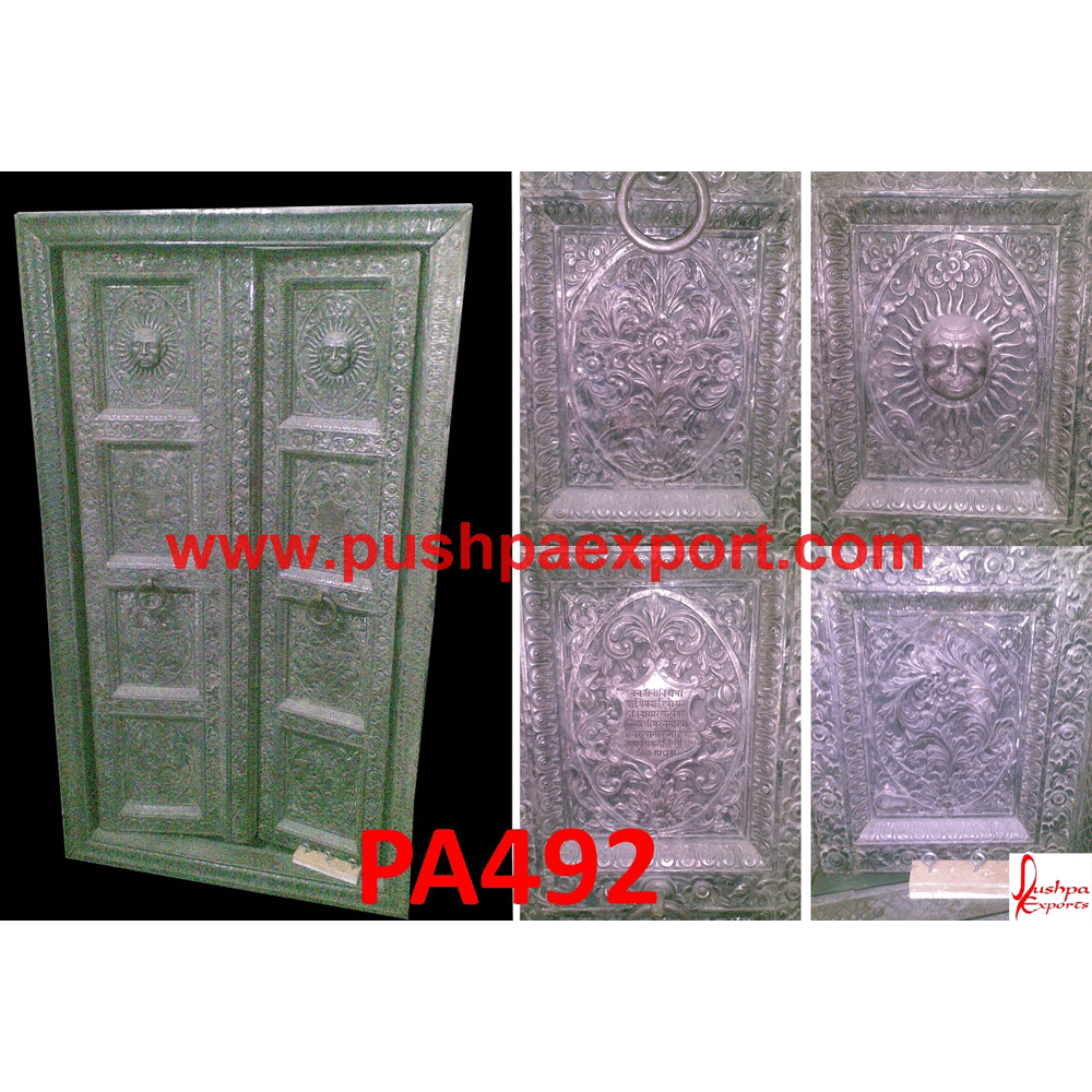 Carved Silver Temple Door