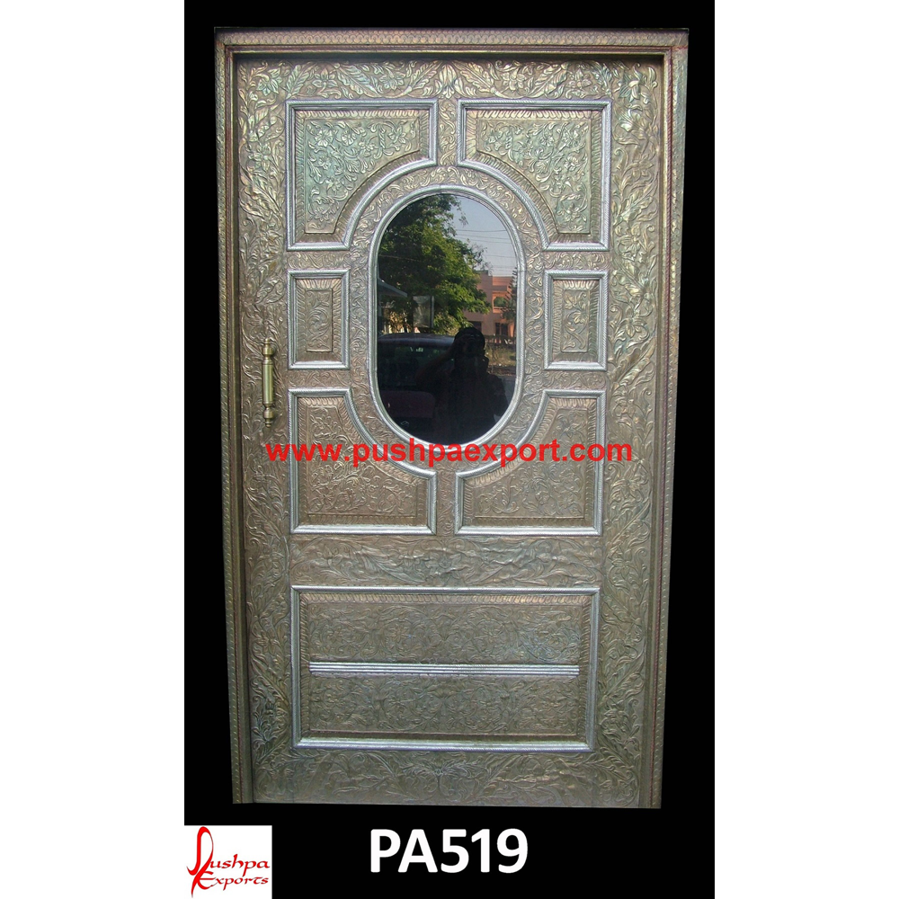 Carved Door with Silver Sheet Covering