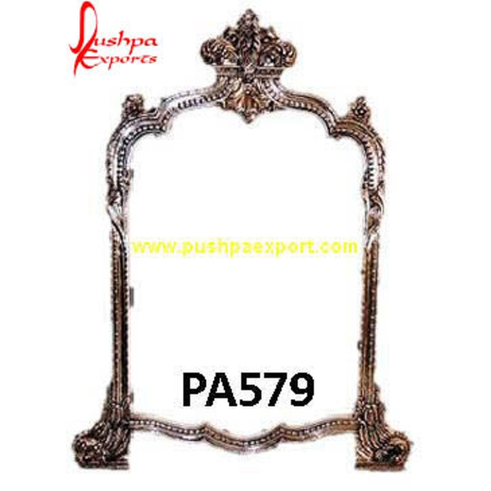 Crown Style Silver Mirror Frame