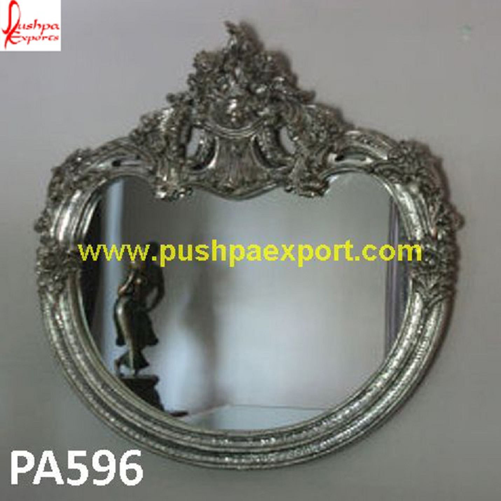 Fine Carving Silver Mirror Frame