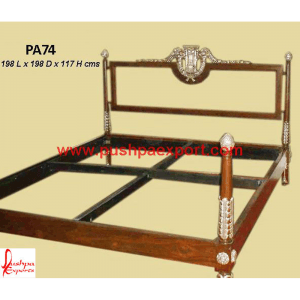 Silver with Natural Wood Polished Bed