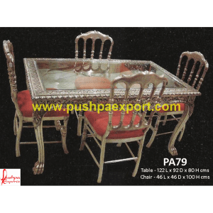 Carving Silver Dining Tables and Chairs