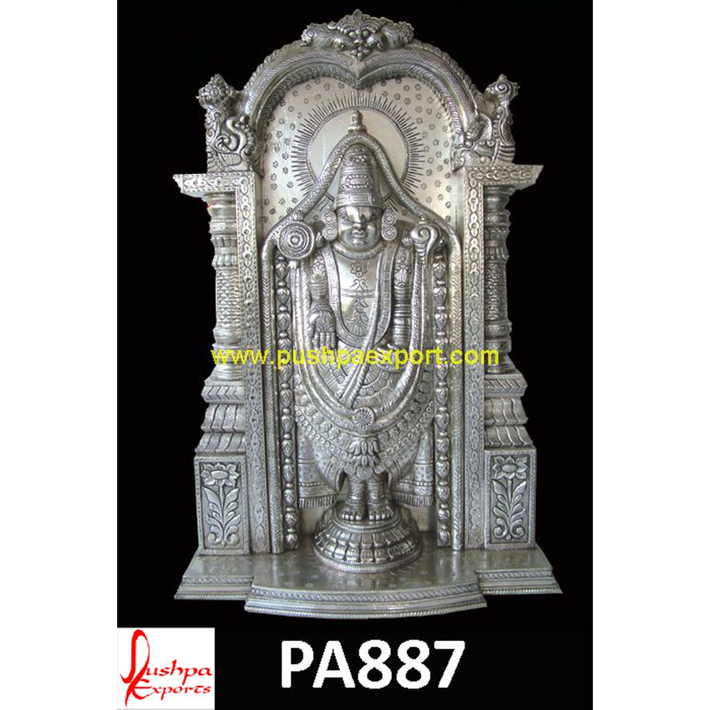 Silver Carved God Statues