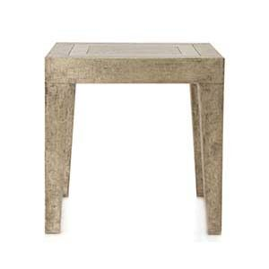White Metal Side Table